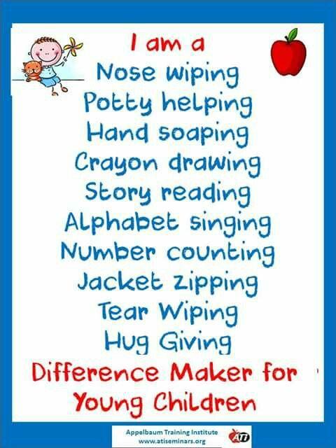 Difference maker … | Preschool teacher quotes, Preschool ...