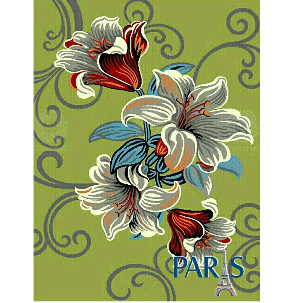 Motif bunga pada Karpet Paris dapat dijadikan ornamen yang
