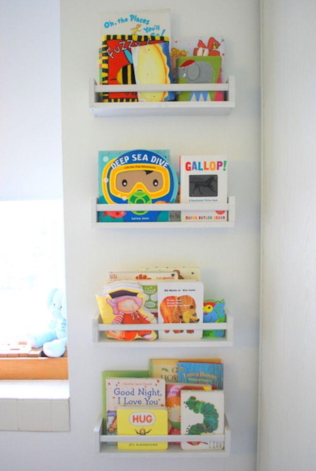 Ikea Hack Bookshelves Made From Spice Racks Bookshelves Kids Ikea Spice Rack Nursery Bookshelf