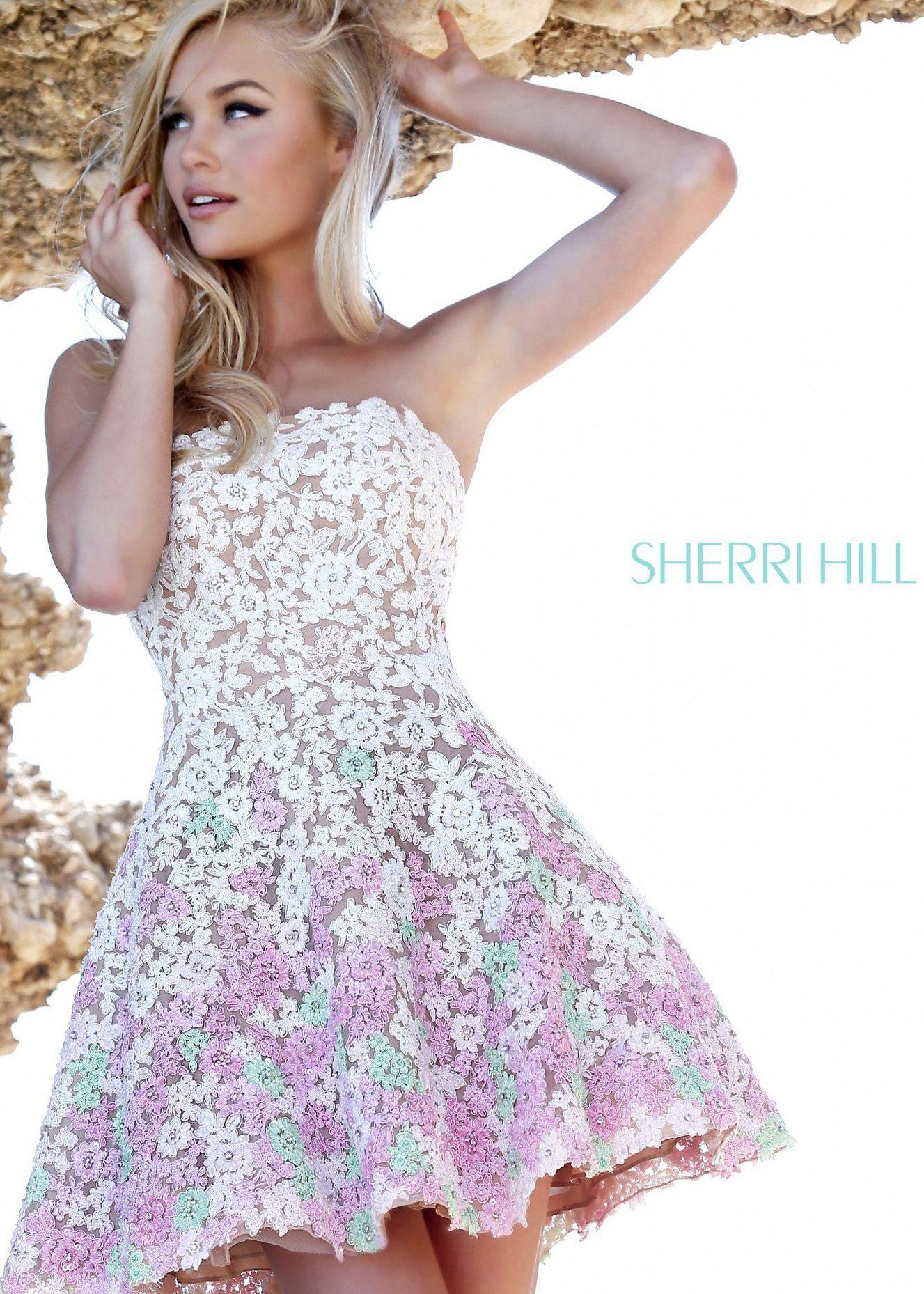 Sherri hill short lace dress dresses pinterest lace