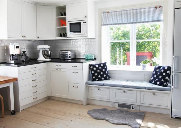 Sitzbank in der Küche