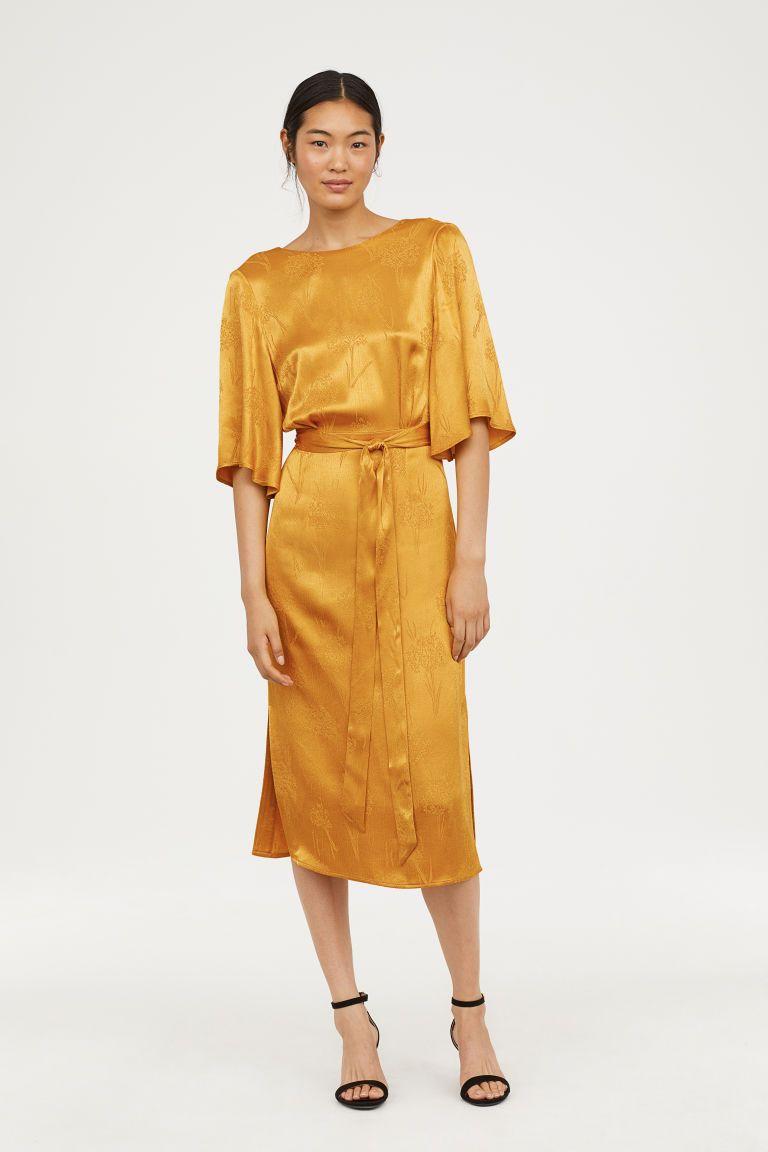 441ad0dc90291 Crêped Dress | dressed to impress. | Calf length dress, Dresses ...