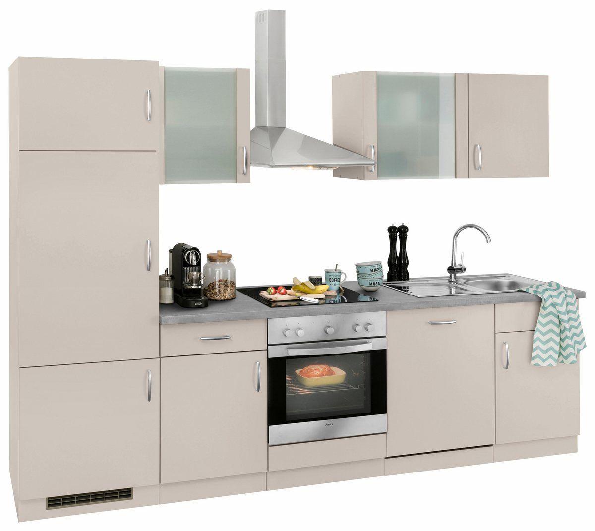 wiho Küchen Küchenzeile »Brüssel«, mit EGeräten, Breite