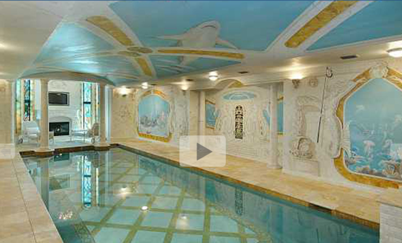 Mansion with indoor pool with slides  Mansion With Indoor Pool, Most Exquisite Indoor Swimming Pools ...