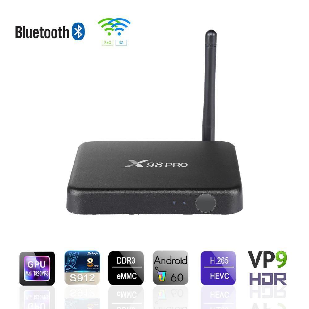 X98 Pro 3GB 32GB Android TV Box Amlogic S912 Octa Core OS 6 0 TVBOX