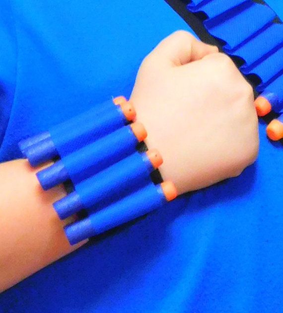Nerf Gun Bullet Dart Holder Wrist-Band Rambo Bandolier Adjustable Size from  6