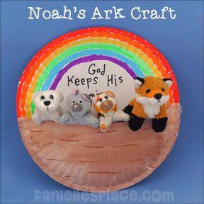 Noah 39 s ark paper plate craft bible and crafts pinte for Noah s ark preschool craft