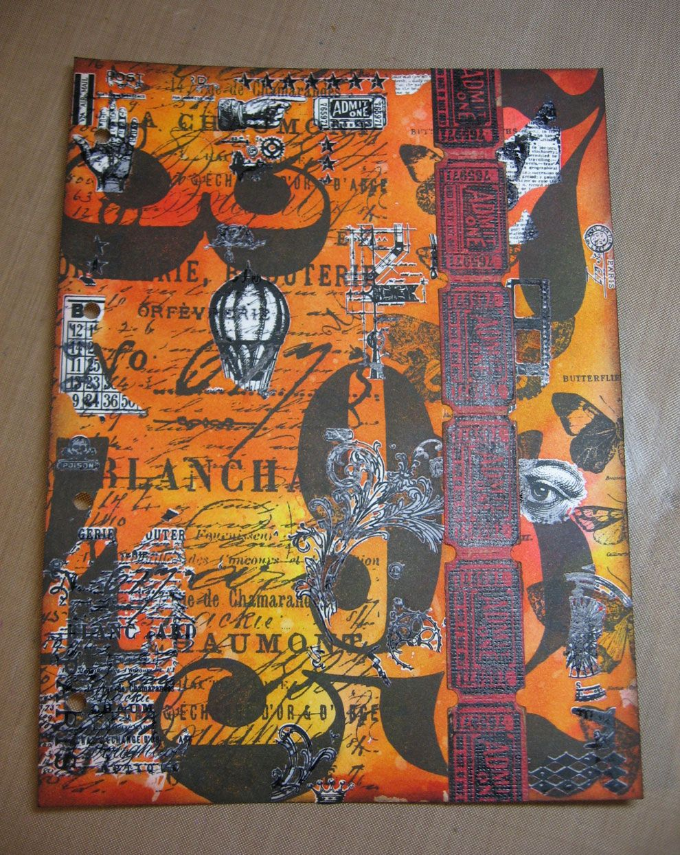 I'm finally getting around to completing my May page for Tim Holtz's 12 Tags of 2013 challenge. It's not really a challenge, just a fun thin...