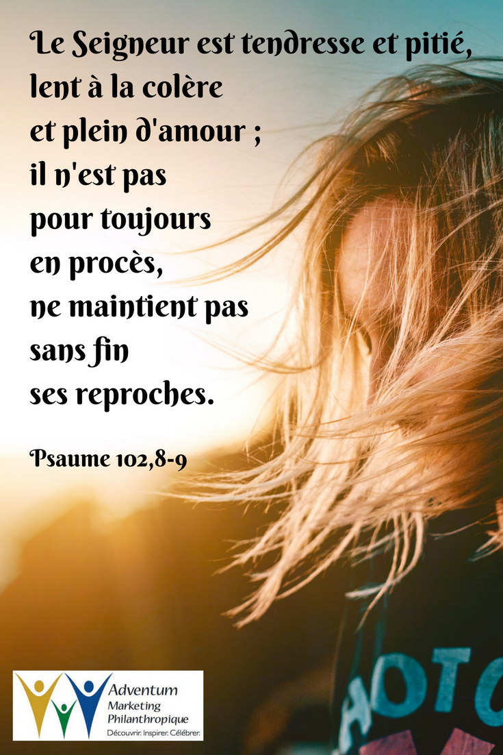 1 août 2017 – Psaume 102,8-9 | Slow to anger, Psalms, Anger