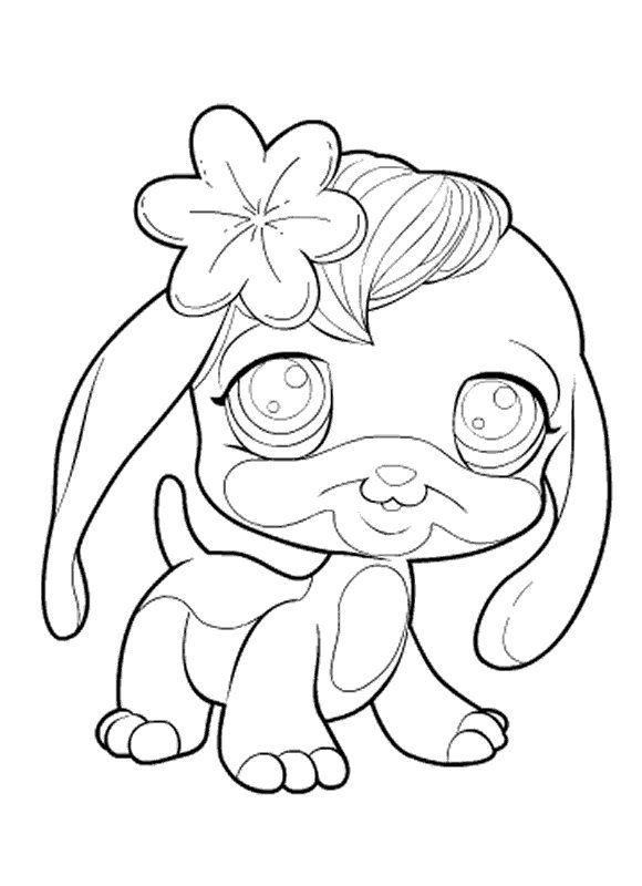 coloring page littlest pet shop littlest pet shop - Littlest Pet Shop Coloring Pages Dog