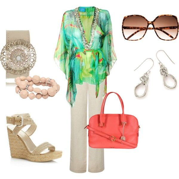 """""""Flowy Caftan"""" by firefly7522 on Polyvore"""