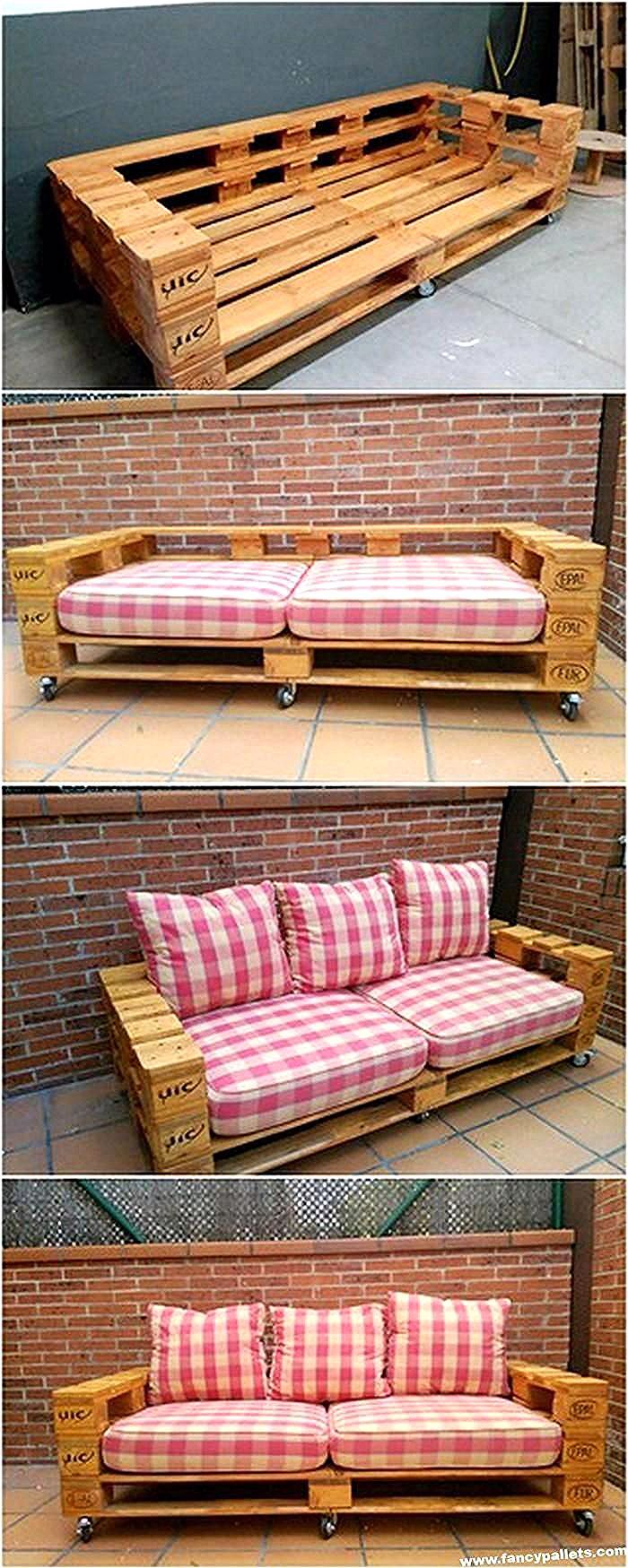 Crazy Projects For DIY Pallet Couches -