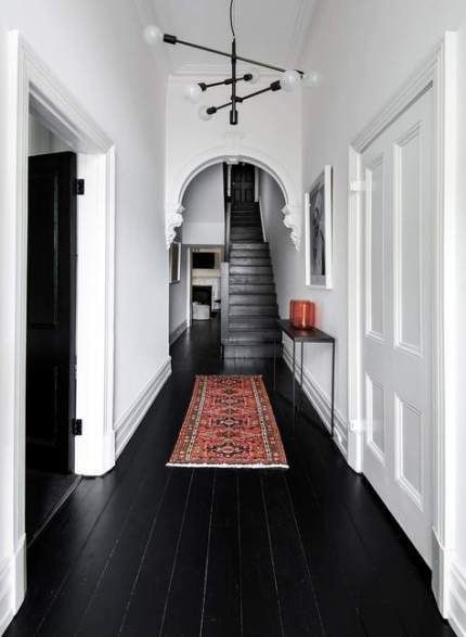 Painted Black Wood Floors Rugs 28+ Ideas#black #floors #ideas #painted #rugs #wood