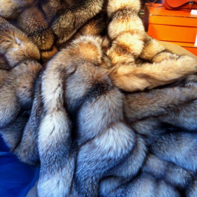 Dream Fur Blanket, Vintage Hermes