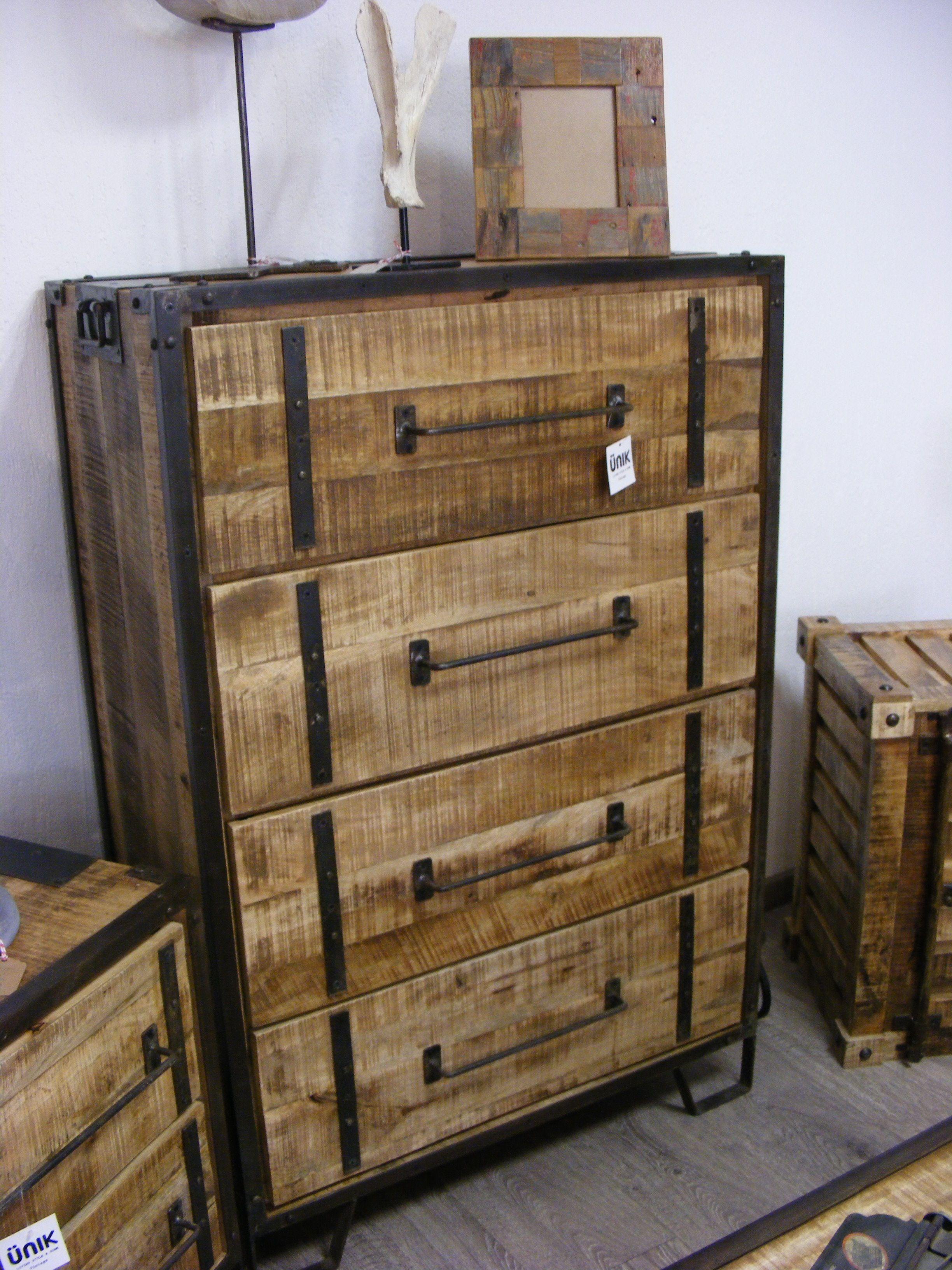 Muebles Vintage En Madera Reciclada De Acacia Unik Vintage Furniture Vintage Industrial Furniture Industrial Design Furniture Furniture