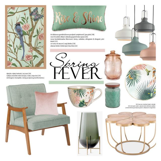 Spring Fever! by helenevlacho on Polyvore featuring interior, interiors, interior design, home, home decor, interior decorating, Pier 1 Imports, iCanvas and Tom Dixon