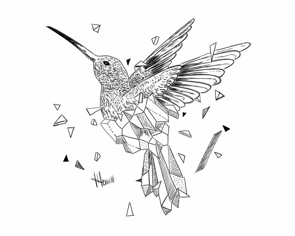 geometric bird by on deviantart geometric pinterest tattoo. Black Bedroom Furniture Sets. Home Design Ideas