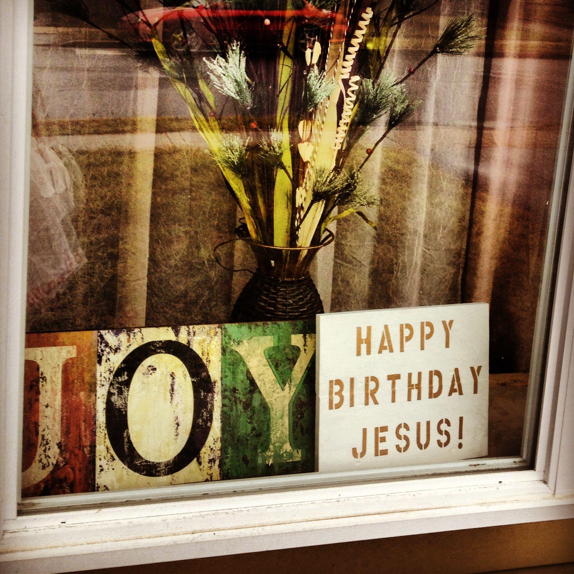 Happy birthday Jesus sign. Christmas.