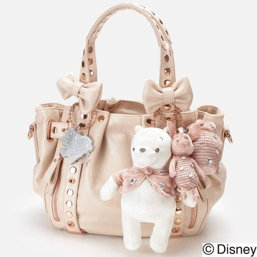 cbb448ab798d New Samantha Thavasa Disney Pooh Christmas Limited Ver Bag Pink White from  Japan