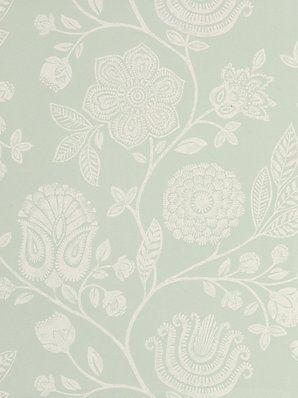 White Picket Fence Wallpaper