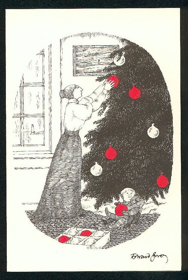 Cape Cod Christmas Cards | Edward Gorey | In The Bleak Midwinter in ...