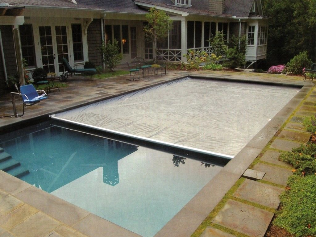 Swiming pools hand rails with in ground ladders also in for Garden pool covers