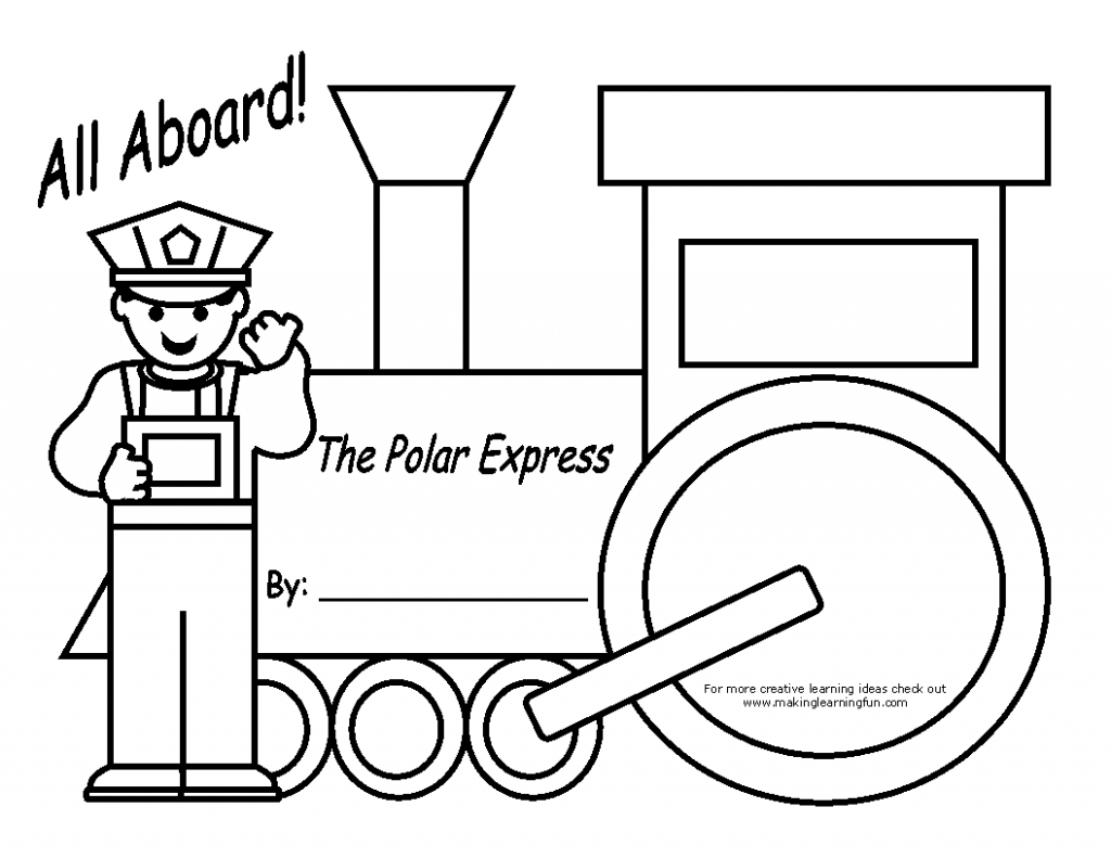 polar express train coloring pages - photo#25