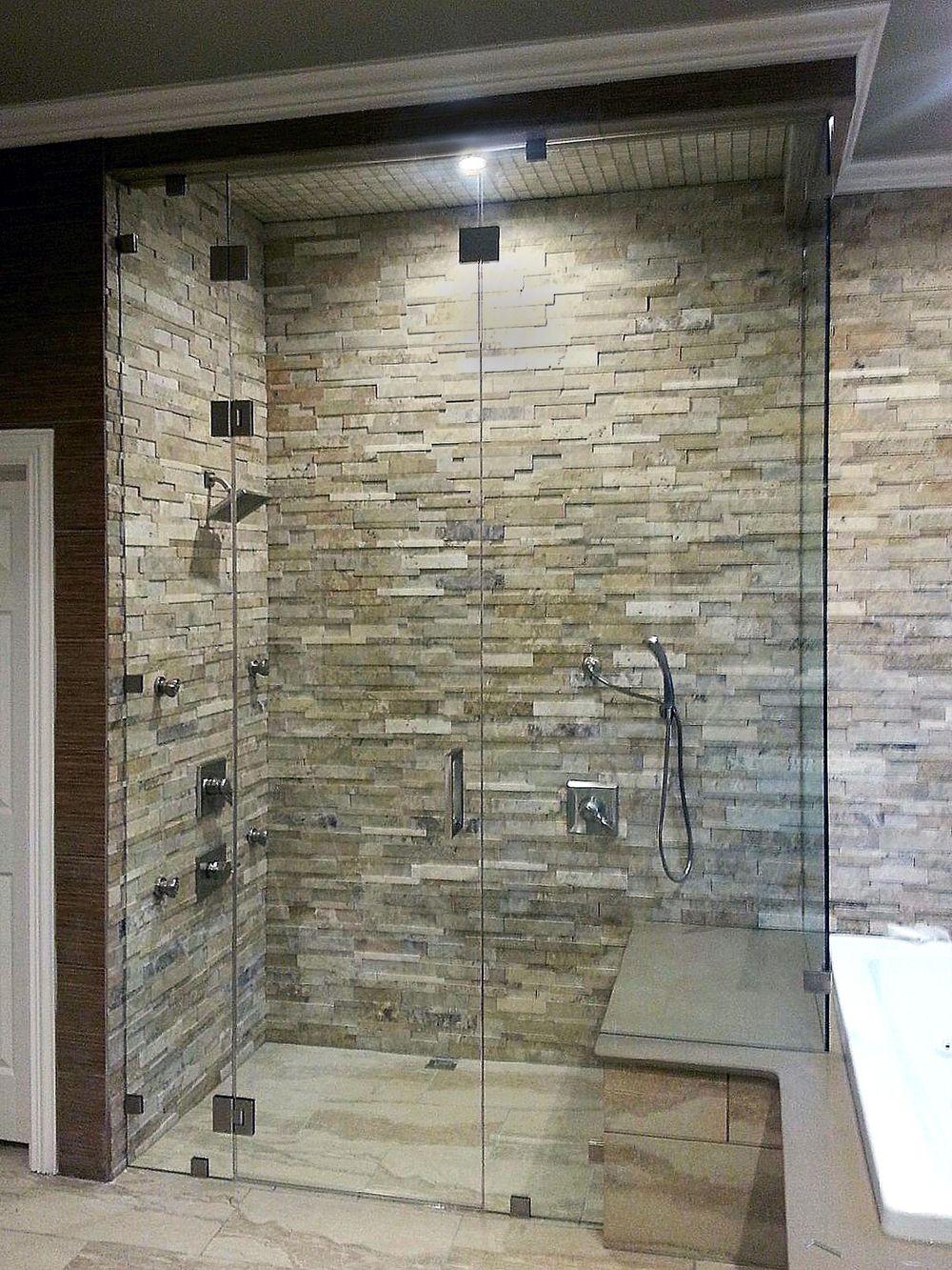 Steam Shower Enclosures 90 Degree Custom Glass Steam Shower