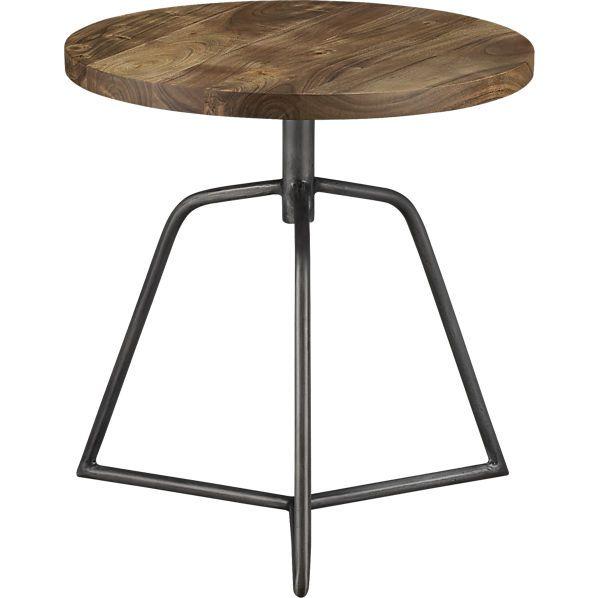 Beautiful CB2 Dot Acacia Side Table Stool $199