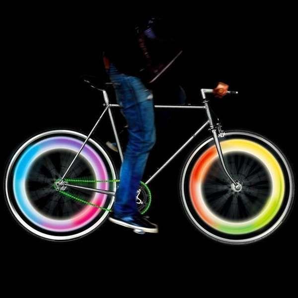 Psychedelic Bicycle Lights Bike Lights Bike Wheel Bicycle Lights