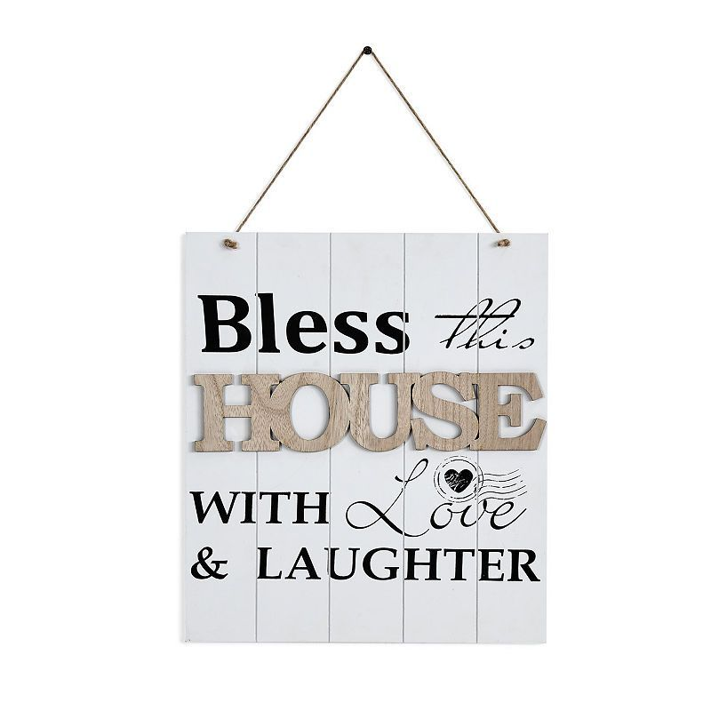 """Download Danya B. """"Bless This House With Love & Laughter"""" Wooden ..."""