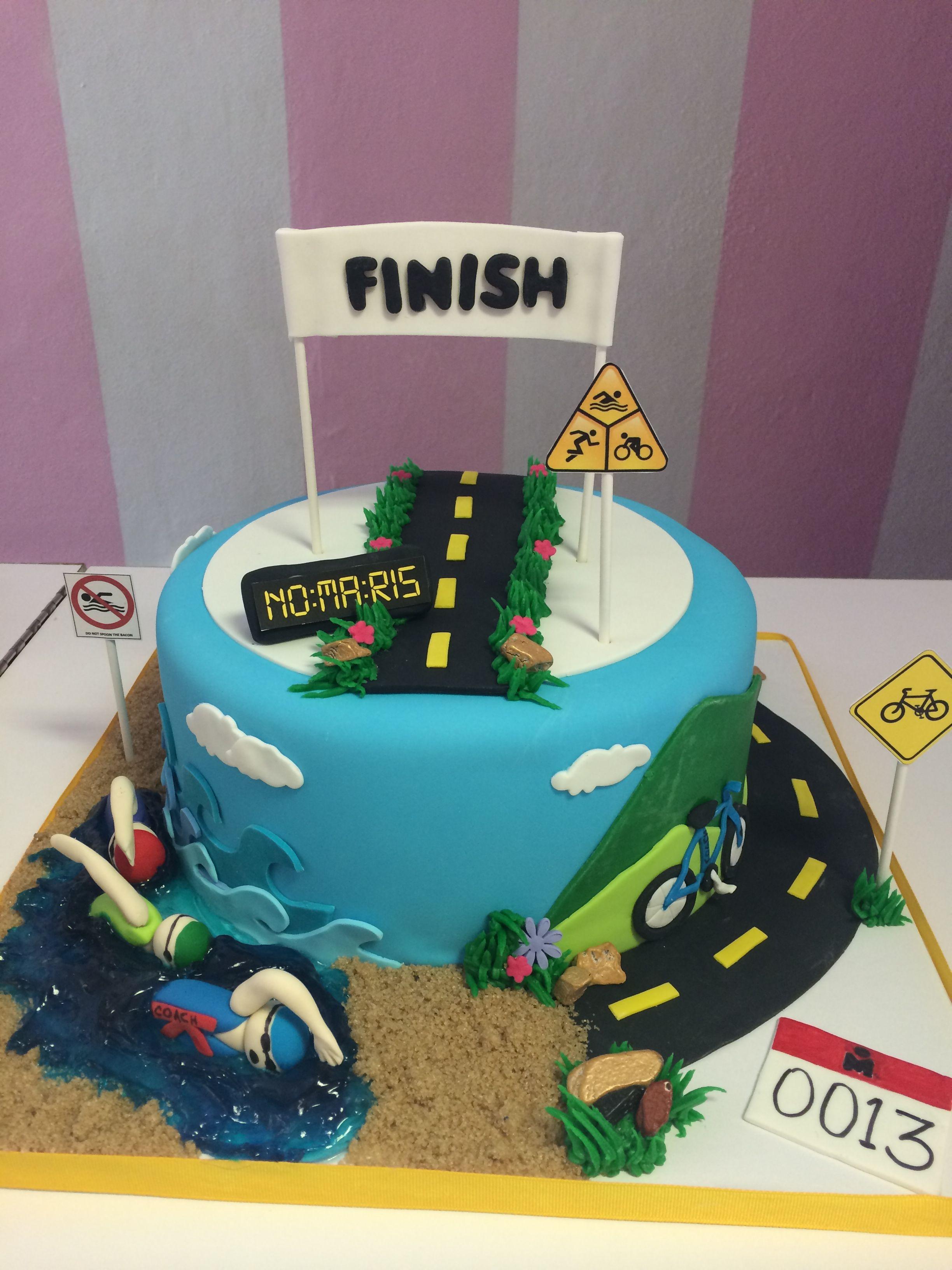 Triathlon Cake Sports Cake Ironman Cake Cake Decorating