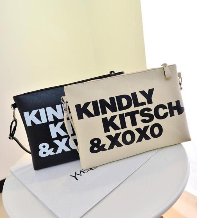 Fashion Letter Print Women s Clutch Bag PU Leather Women Envelope Shoulder Evening  Bag Female Clutches Handbag e03074be977b5
