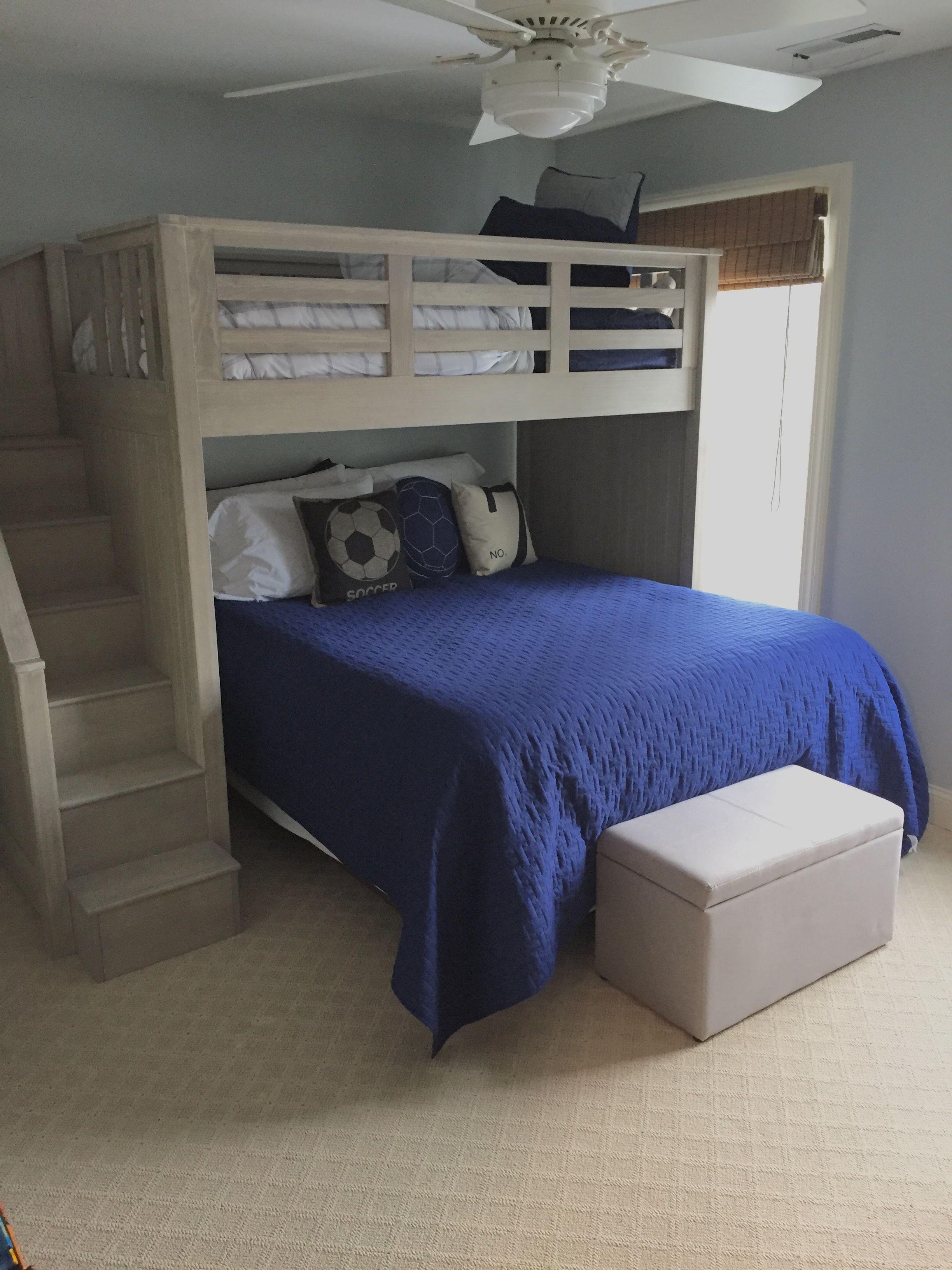 Boys room bunk bed idea. Pottery Barn Kids Catalina Stair
