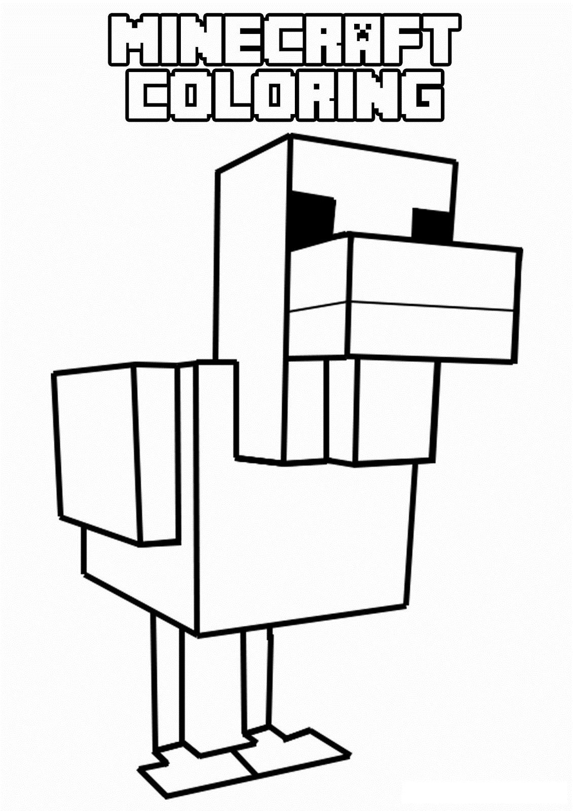 minecraft coloring pages to print # 20