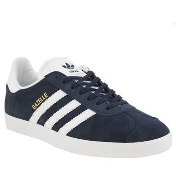Adidas Navy \u0026 White Gazelle Suede
