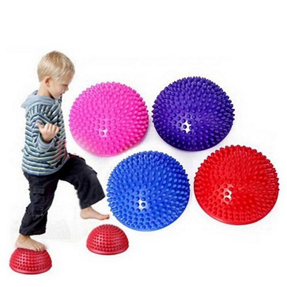 opblaasbare half sphere yoga ballen pvc massage fitball oefeningenFitness Ballen #21