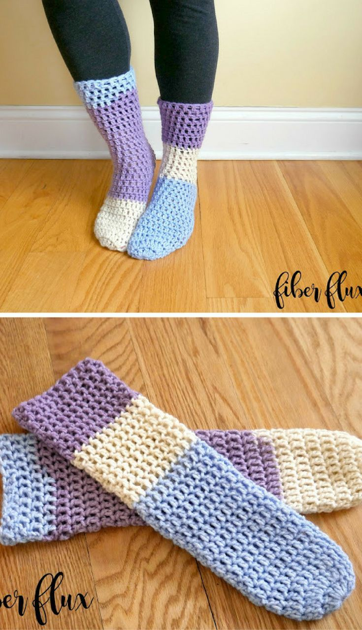 Free crochet pattern home all day slipper socks crochet free crochet pattern home all day slipper socks bankloansurffo Choice Image