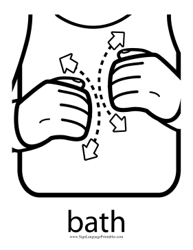 A toddler rubs his knuckles together in this printable ...