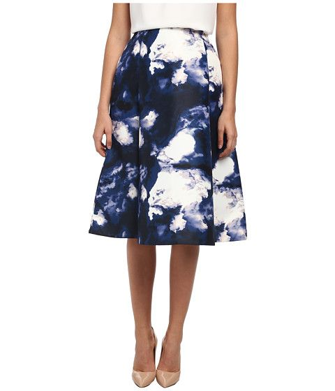 Kate Spade New York Dusk Clouds A Line Skirt Blue Dusk - 6pm.com