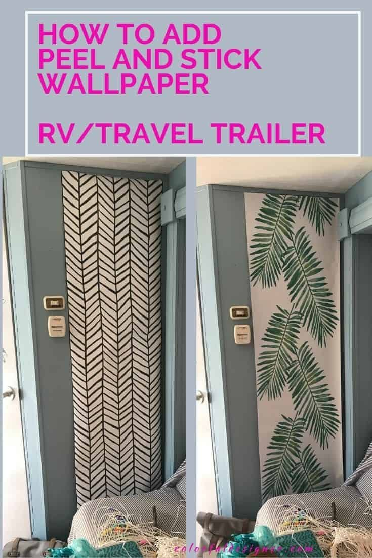 How to apply peel and stick wallpaper in your RV ...