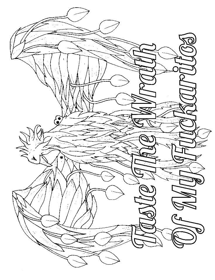Fuck No  Adult Coloring Page  Swear  Free Printable Coloring