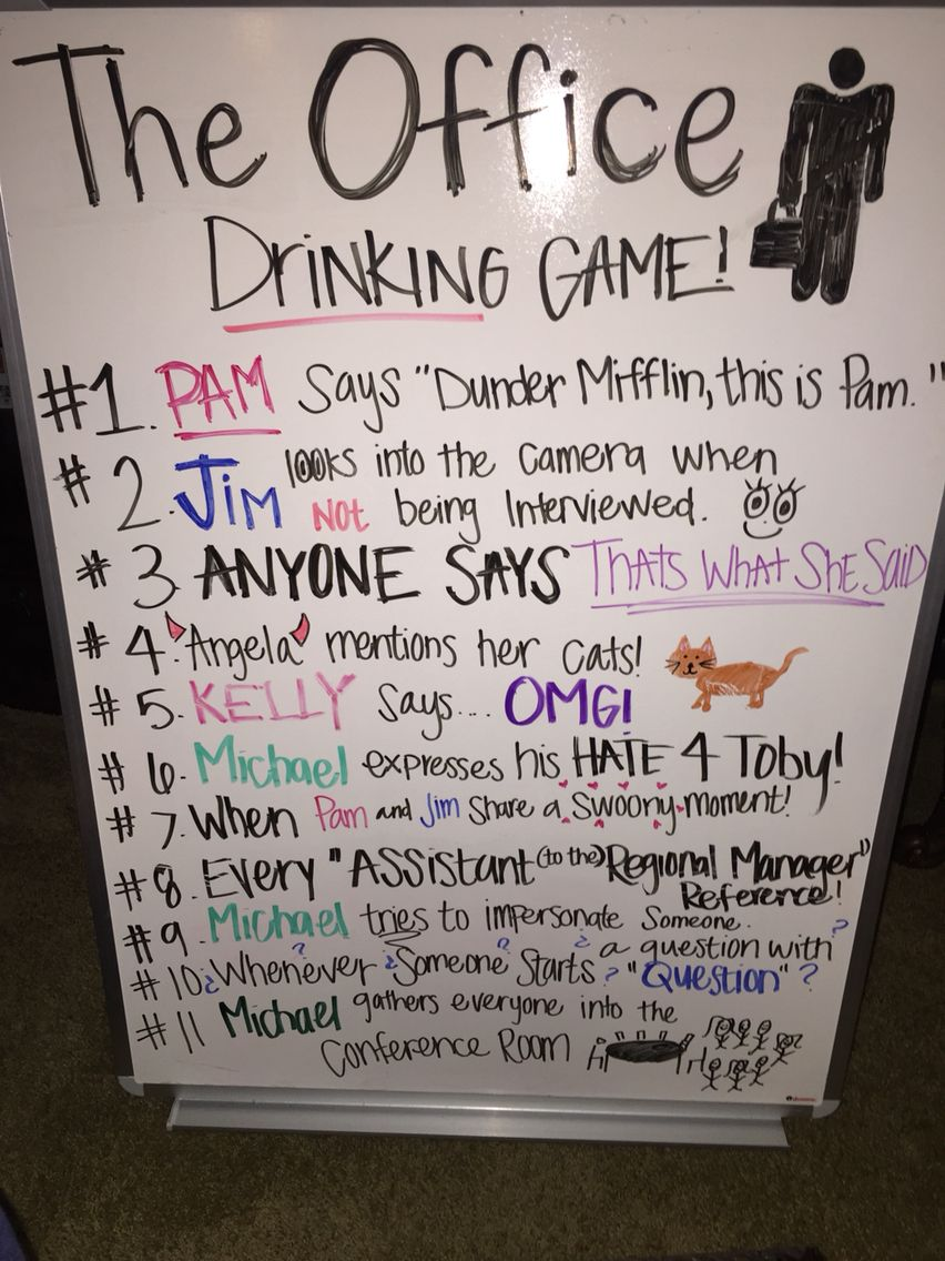 The Office Drinking Game | The office drinking game, Movie