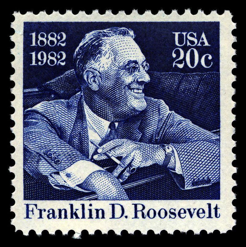 Franklin D Roosevelt USA 20c Postage Stamp