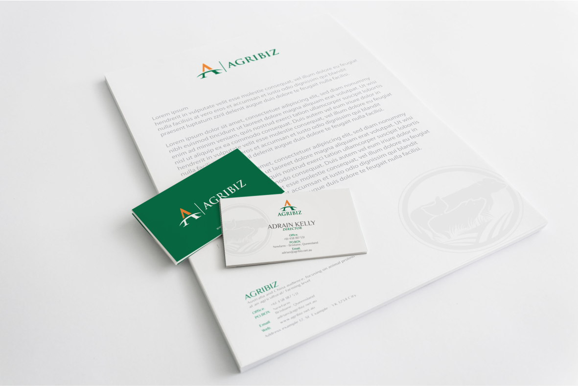 AGRIBIZ Logo and Stationery.