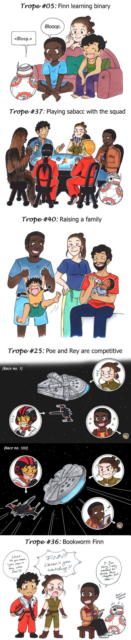 Jedistormpilot Fanfic Trope Sketches By Worth Three Portions On Tumblr Part 6 Star Wars Memes Star Wars Fandom Star Wars