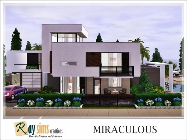 Miraculous Modern Contemporary Home By Ray Sims Free Sims 3 Lots Downloads The Sims Resource Tsr Cu Modern Contemporary Homes Sims House Contemporary House