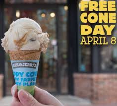 Ben & Jerry's Offers FREE Ice Cream Cone on April 8th!