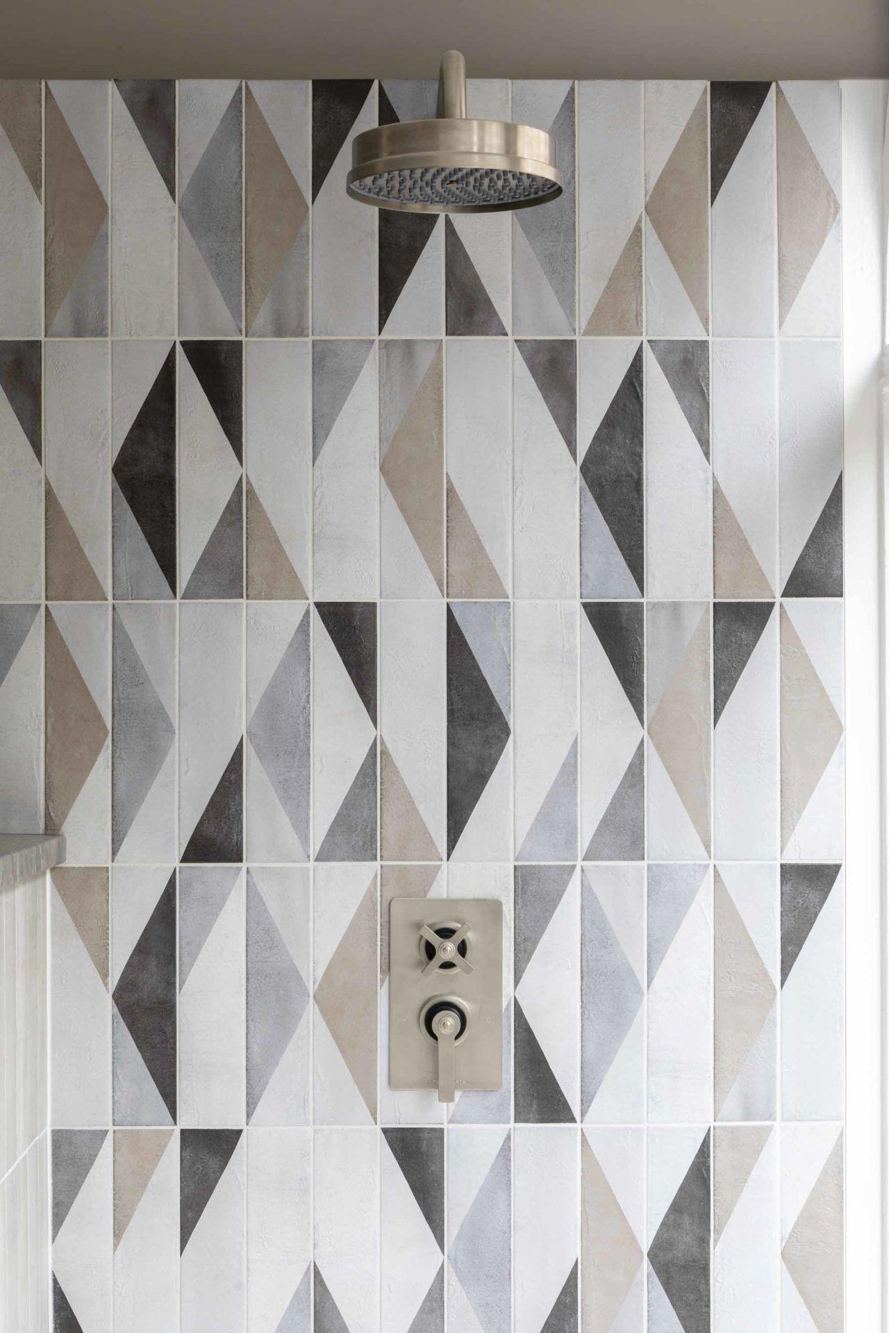 Oblique Latte Mix Decor Porcelain Tiles Bathroom Tile Designs