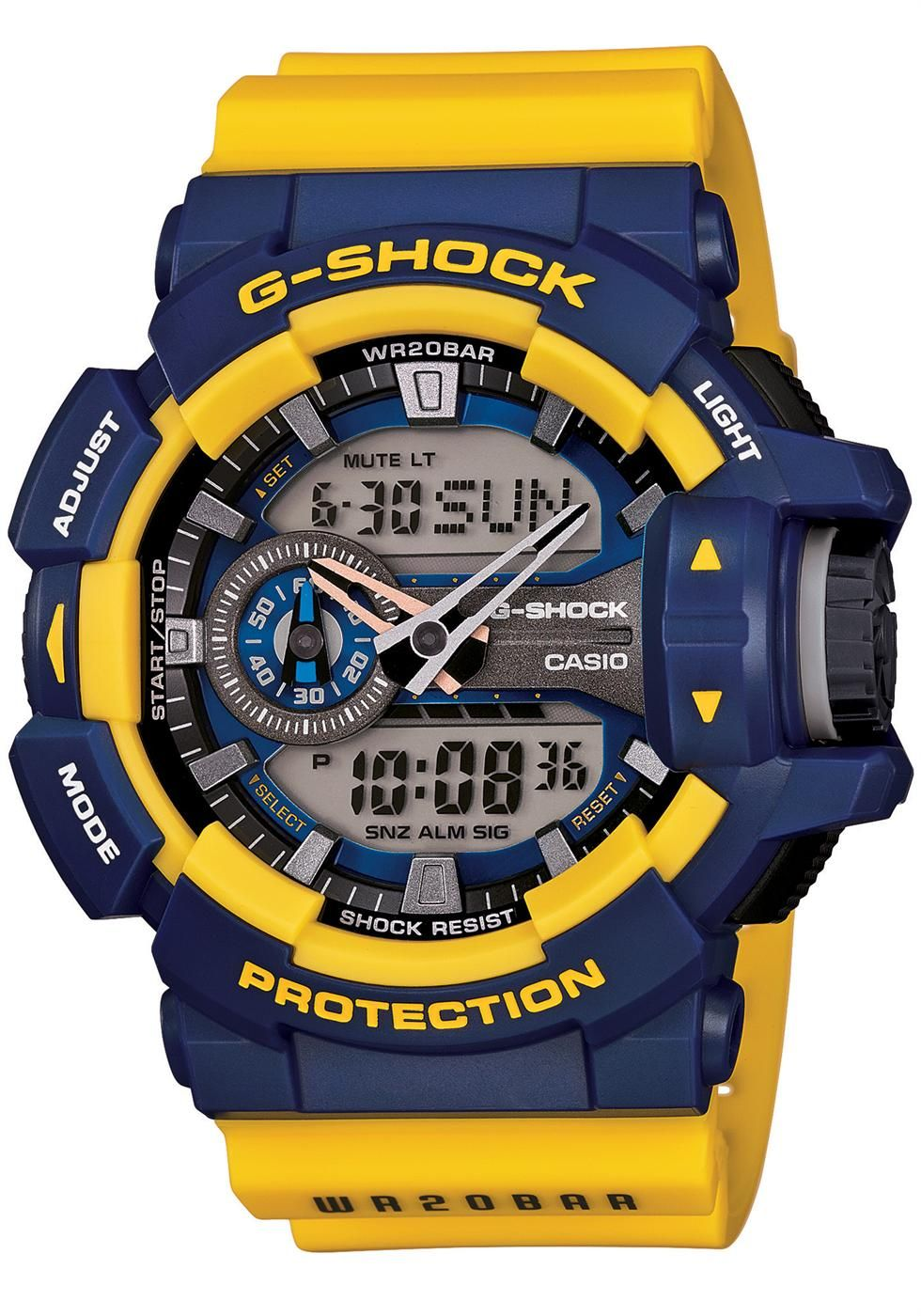 c197d47aa9a G-Shock GA-400 Series Worldtime -Navy Gold